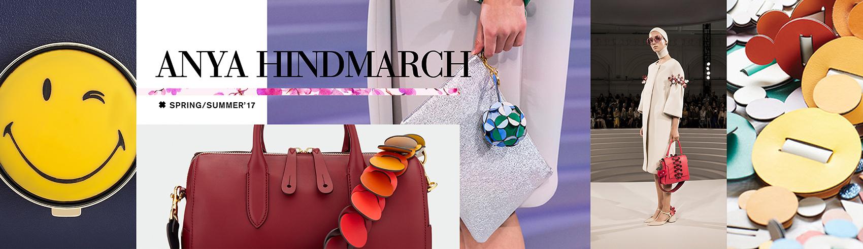 Bolsos y complementos de Anya Hindmarch para del rosa al amarillo