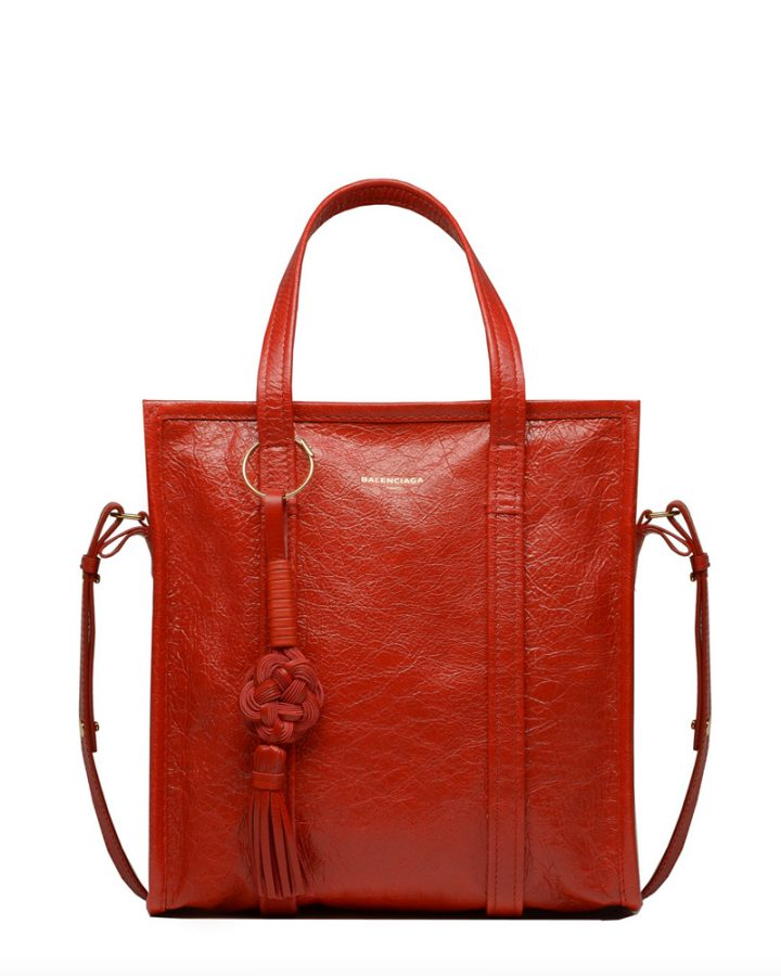 DEL ROSA AL AMARILLO BALENCIAGA red bag bazaar bolso rojo piel