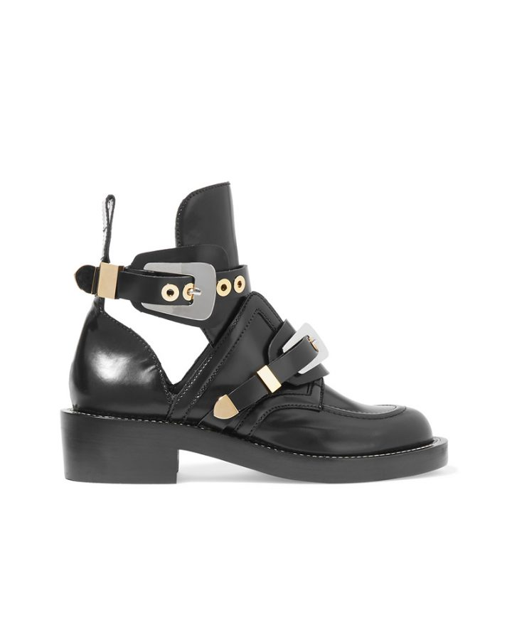 Balenciaga boots Del Rosa al Amarillo Santander black leather botas negro piel