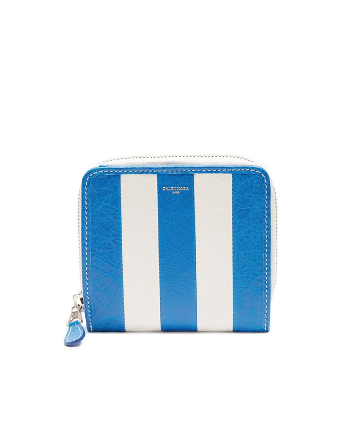 DEL ROSA AL AMARILLO BALENCIAGA wallet white blue bazaar blanco azul cartera