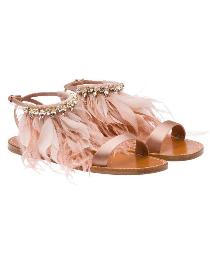 Miu miu Sandals pink feather Del Rosa al Amarillo Santander sandalias Rosa plumas