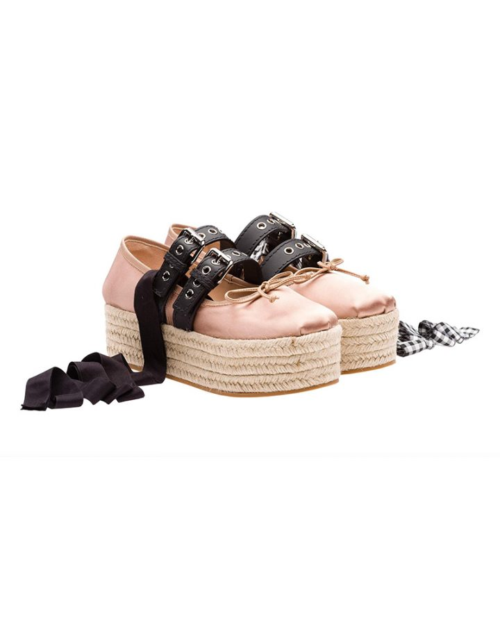 Miu miu plattform pink ballerinas Del Rosa al Amarillo Santander plataforma bailarinas Rosa