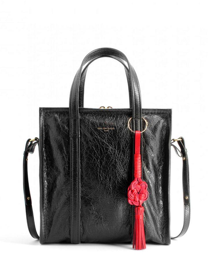 DEL ROSA AL AMARILLO BALENCIAGA black red bag bazaar bolso negro rojo piel