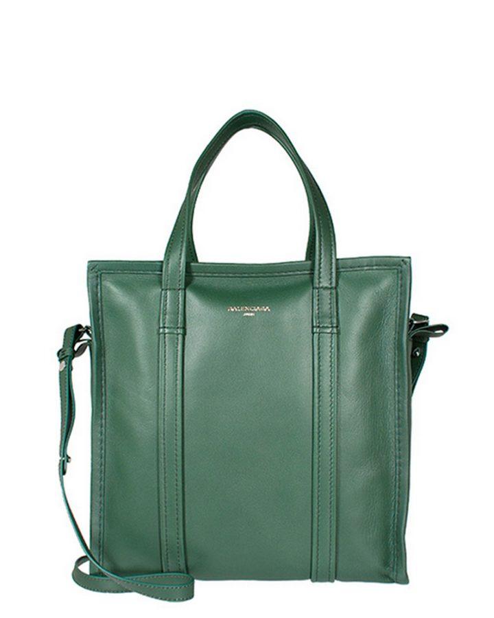DEL ROSA AL AMARILLO BALENCIAGA green bag bazaar bolso verde piel
