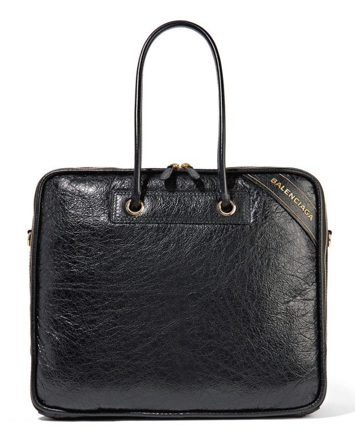 DEL ROSA AL AMARILLO BALENCIAGA black bag blanket bolso negro piel