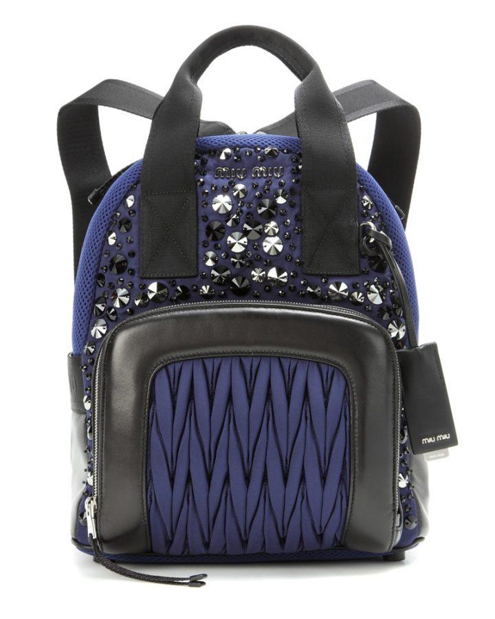 del rosa al amarillo MIU MIU blue backpack jewel mochila azul joya