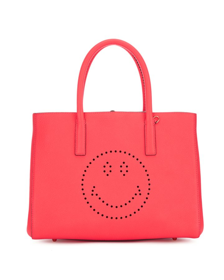 DEL ROSA AL AMARILLO Anya Hindmarch Small Featherweight evury bag red neon rojo fluo