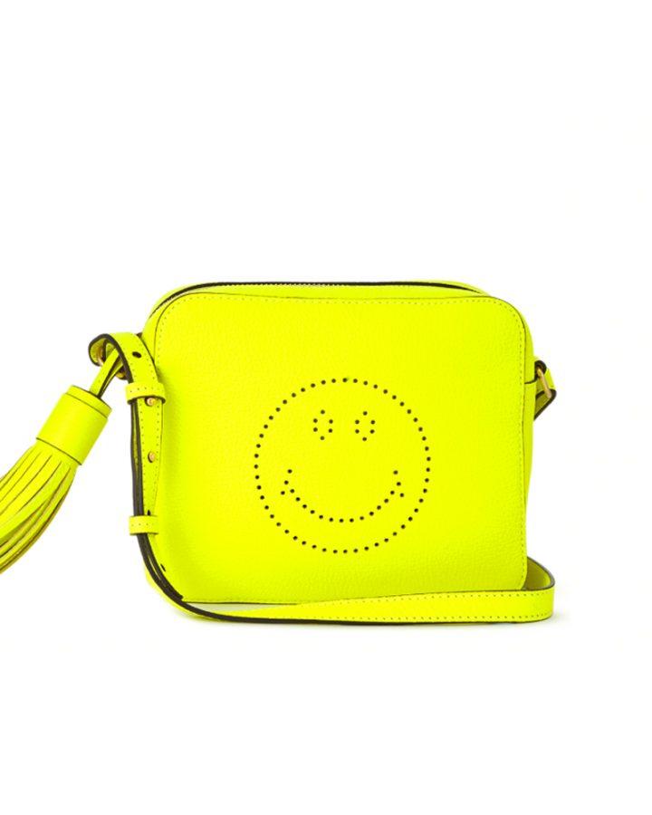 DEL ROSA AL AMARILLO Anya Hindmarch Smiley Cross body Bag Yellow neon amarillo fluo bolso