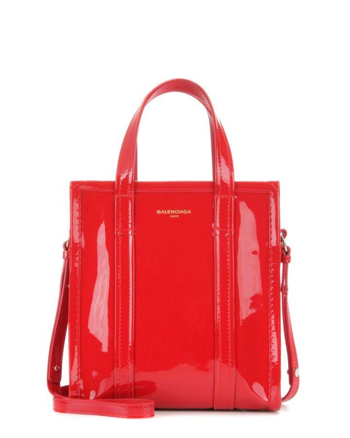 DEL ROSA AL AMARILLO BALENCIAGA glossy red bag bazaar bolso charol rojo
